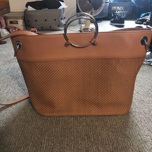 Handbags - Tan Witchery weave bag with metal handles